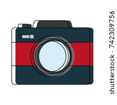 photographic camera icon | Shutterstock .eps vector #742309756