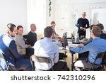 relaxed informal it business... | Shutterstock . vector #742310296