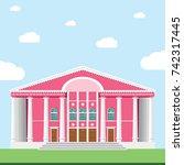 opera theatre. mongolian state... | Shutterstock .eps vector #742317445