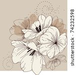 floral background with blooming ... | Shutterstock .eps vector #74232598