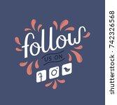 follow us on social media icons ... | Shutterstock .eps vector #742326568