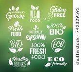 organic  healthy  raw  gluten... | Shutterstock .eps vector #742329592