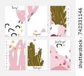 hand drawn creative universal... | Shutterstock .eps vector #742331146