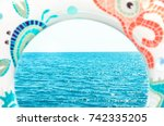 lap swimming and sea | Shutterstock . vector #742335205