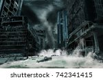 cinematic portrayal of a city... | Shutterstock . vector #742341415