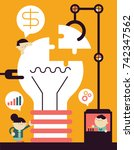 making an innovation  | Shutterstock .eps vector #742347562