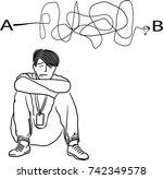 vector art drawing of... | Shutterstock .eps vector #742349578