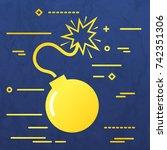 flat line design graphic image...   Shutterstock .eps vector #742351306