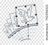 concept animation  hand drawn... | Shutterstock .eps vector #742356322
