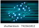 binary circuit board future... | Shutterstock .eps vector #742361812