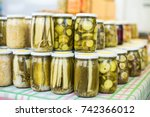 view of the condiments... | Shutterstock . vector #742366012