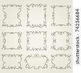 set vintage frames. vector...   Shutterstock .eps vector #74236684