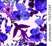 watercolor seamless pattern... | Shutterstock . vector #742371265