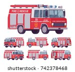 Fire Engine Set. Emergency...