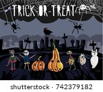 creative and cute poster of...   Shutterstock .eps vector #742379182