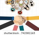 flat design illustration... | Shutterstock .eps vector #742381165