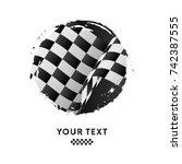 Waving Checkered Racing Flag ...