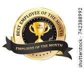 best employee of the month  ... | Shutterstock .eps vector #742388992