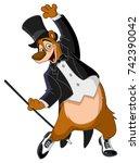 tap dancer bear   Shutterstock .eps vector #742390042