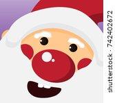 close up cute santa claus face... | Shutterstock .eps vector #742402672