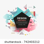 vector  abstract geometric... | Shutterstock .eps vector #742403212