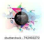 vector  abstract geometric...   Shutterstock .eps vector #742403272
