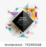 vector  abstract geometric... | Shutterstock .eps vector #742404268