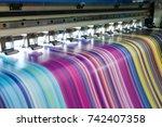 large inkjet printer working... | Shutterstock . vector #742407358
