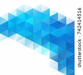 blue grid mosaic background ... | Shutterstock .eps vector #742414516