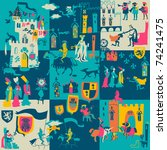 background with knights and... | Shutterstock .eps vector #74241475