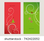 set of decorative christmas... | Shutterstock .eps vector #742422052