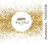 merry christmas  greeting...   Shutterstock .eps vector #742431538