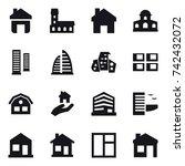 16 vector icon set   home ...   Shutterstock .eps vector #742432072