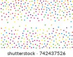 festival pattern with color... | Shutterstock .eps vector #742437526