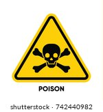 caution danger sign. hazard... | Shutterstock .eps vector #742440982