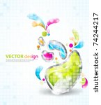 eps10 vector multicolor design | Shutterstock .eps vector #74244217