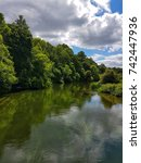 Small photo of River Avon at Hale Park in June