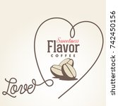 heart coffee menu beans vintage ... | Shutterstock .eps vector #742450156