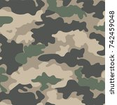 camouflage pattern | Shutterstock .eps vector #742459048