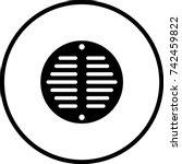 drain grate symbol   Shutterstock .eps vector #742459822
