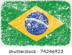 vector grunge styled flag of... | Shutterstock .eps vector #74246923