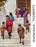 trimphu  bhutan   mar 8  2017 ...   Shutterstock . vector #742480972