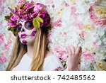 dia de los muertos. day of the... | Shutterstock . vector #742485562