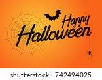 happy halloween vector  | Shutterstock .eps vector #742494025