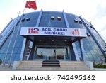 antalya  turkey   october 03 ... | Shutterstock . vector #742495162