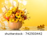 Bright Autumn Bouquet In A...