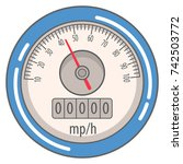 car speedometer interface...   Shutterstock .eps vector #742503772