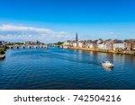 maastricht netherlands and maas ... | Shutterstock . vector #742504216