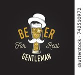 craft beer. vector illustration.... | Shutterstock .eps vector #742510972