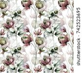 seamless pattern with original... | Shutterstock . vector #742523695